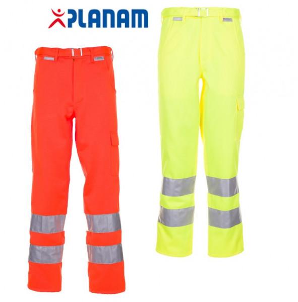 Planam Warnschutz Bundhose Arbeitshose Größe 24 - 110, in 2 Farben