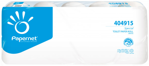 Toilettenpapier weiß 2-lagig 400 Blatt 40 Rollen