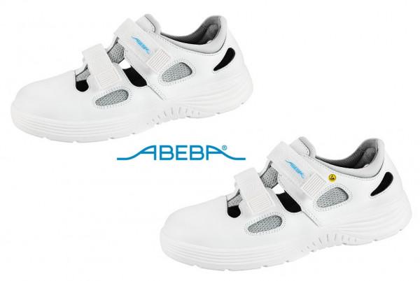 ABEBA X-Light 711031 7131031 ESD Sicherheitsschuh S1 Sandale Stahlkappe Küchenschuh Arbeitsschuh weiß