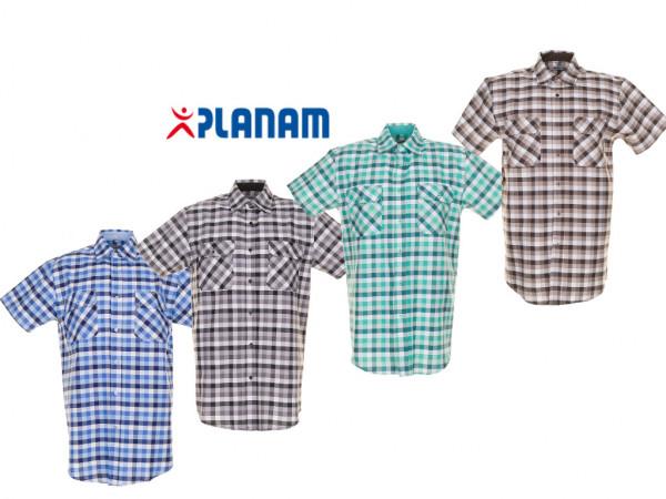 Planam Countryhemd 1/4 kurzarm Arbeitshemd Größe 37/38 - 49/50, in 4 Farben