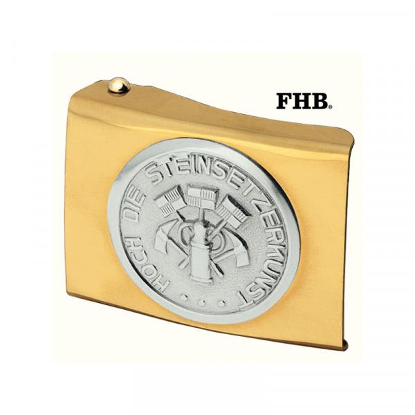 FHB Einhardt Koppelschloss Arbeitsgürtel Gürtel Koppel -Steinsetzer- 87030 Gold