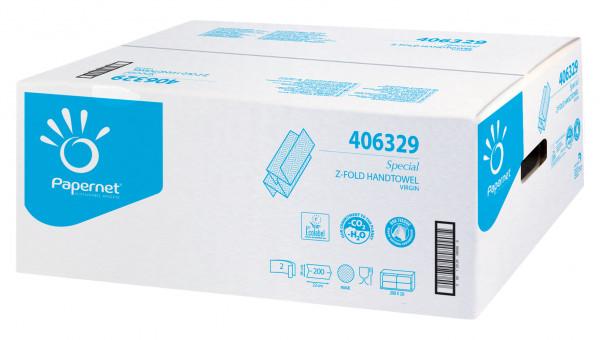 Papernet® - Handtuchpapier weiß, Z-Falz., 2-lagig, 24 x 22 cm, 4.000 Blatt