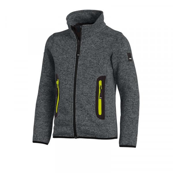 FHB Mats Kinder Strick-Fleece-Jacke Größe 86 - 164, in 5 Farben