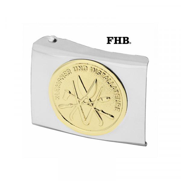 FHB Hasso Koppelschloss Arbeitsgürtel Gürtel Koppel -Klempner- 87041 Silber