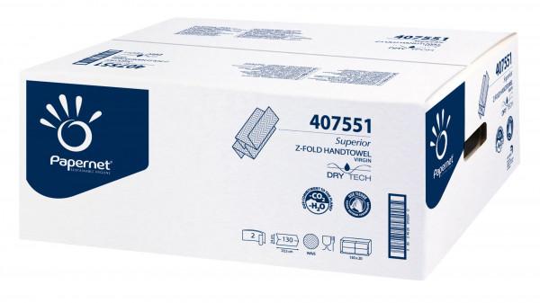 Papernet® - Superior Handtuchpapier weiß, Z-Falz., 2-lagig, 20 x 24 cm, 2.600 Blatt