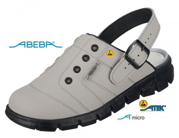 ABEBA Dynamic 7365 | 37365 ESD Berufsschuh Clog grau/schwarz