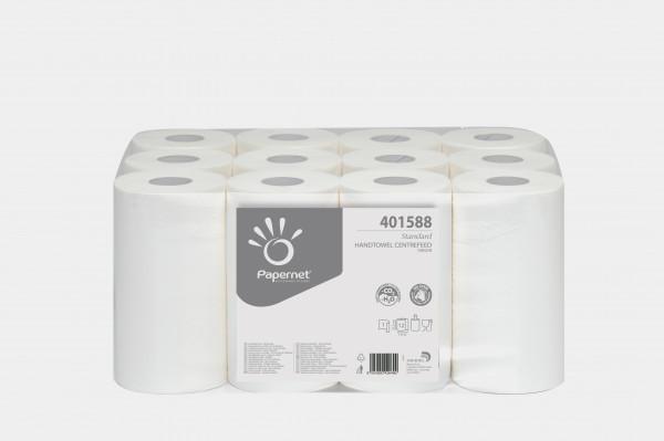 Handtuchpapierrolle weiß, 1-lagig, 21,5 x 117m