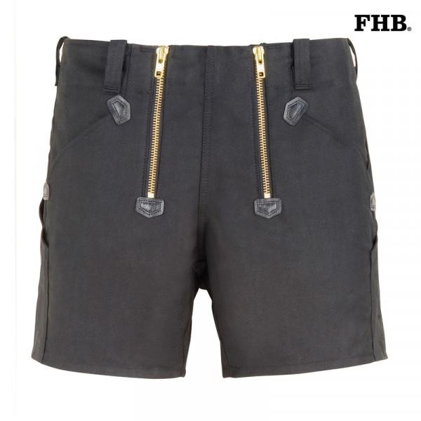 FHB Jo Zunftshort Arbeitsshort kurze Hose Rips-Moleskin 10032 Größe 40 - 62, in schwarz