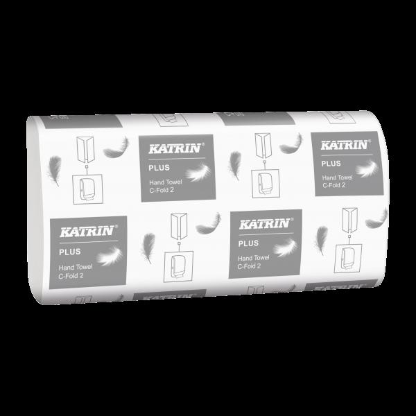 Katrin Plus C-Falz Handtuchpapier, 2-lagig,weiß, 24 x 33 cm - 344302