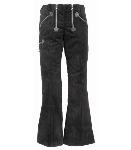FHB Damen Luise Zunfthose mit Schlag Arbeitshose Trenkercord 40006 Größe 34 - 88, in schwarz