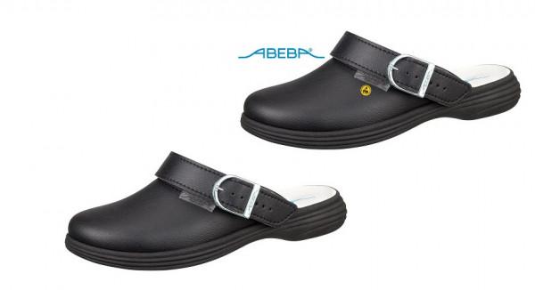ABEBA Berufsschuh Clog schwarz Original Plus 7531   37531 ESD