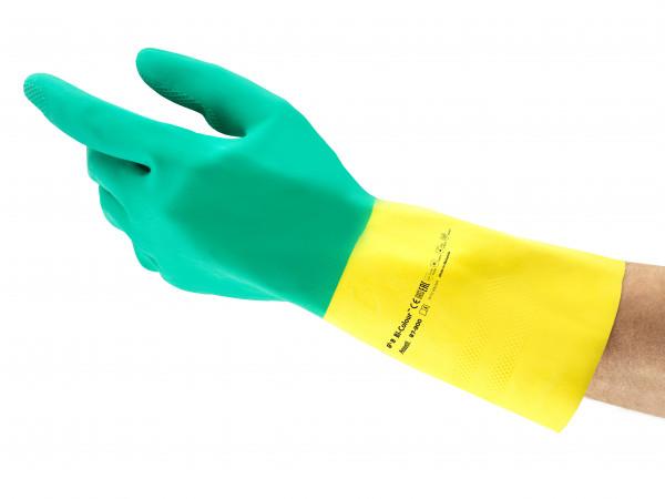 Ansell - Handschuh AlphaTec 87-900 Chemikalienschutzhandschuh (Bi-Colour)