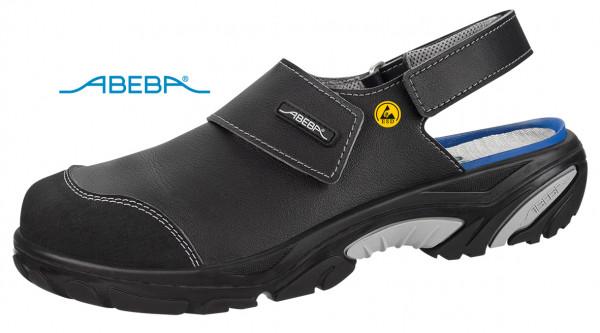 ABEBA Crawler Alu 4556|34556 ESD Sicherheitsschuh Sandale Clog Kochschuh Küchenschuh schwarz