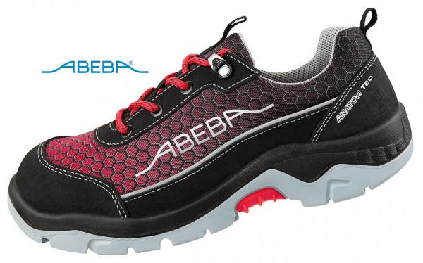 ABEBA Anatom 2238|32238 Sicherheitsschuh S3 ESD Halbschuh Arbeitsschuh schwarz-rot