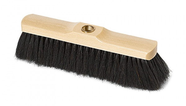 Nölle - Zimmerbesen Rossschweifhaar 28 cm mit Messinggewinde