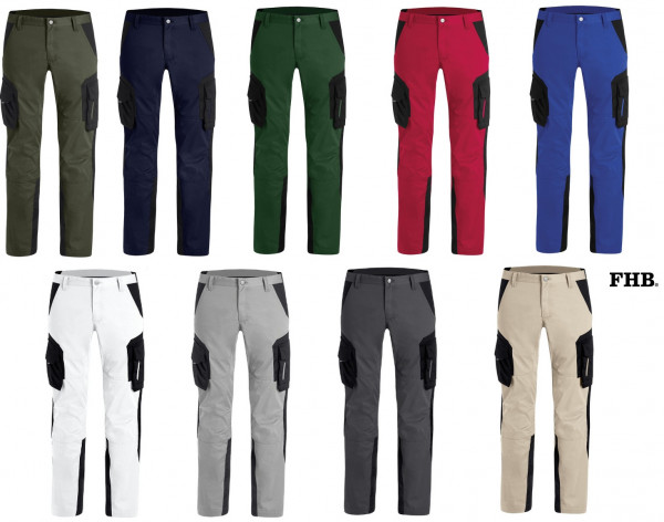 FHB Fabian Twill Arbeitshose Bundhose Größe 23 - 114, in 9 Farben