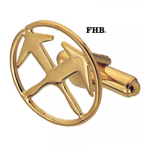 FHB Jost 90120 Manschettenknöpfe Dachdecker Gold