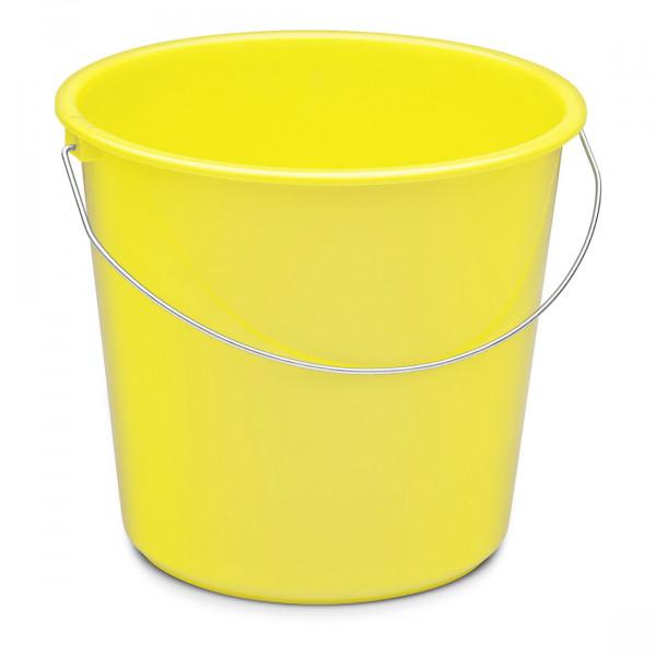 Nölle - Haushaltseimer 10 Liter Kunststoff mit Metallbügel gelb - 737354
