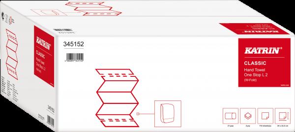 Katrin Classic One-Stop Handtuchpapier L2, 2 lagig,weiß 345152