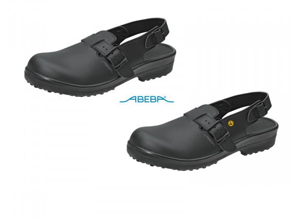 ABEBA Classic 1011 31011 ESD Sicherheitsschuh Clog Stahlkappe Küchenschuh Arbeitsschuh schwarz
