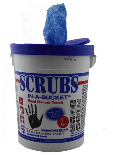 SCRUBS® IN-A-BUCKET® Handreinigungstücher Handreinigung 72 Tücher/Eimer