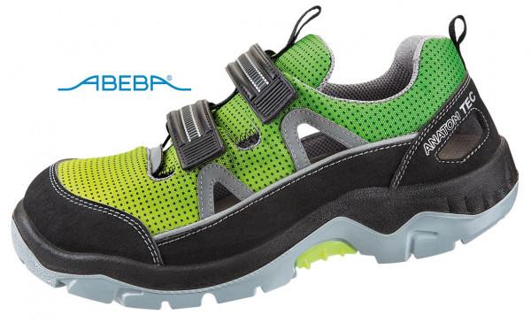 ABEBA Anatom 2283|32283 Sicherheitsschuh S1P ESD Halbschuh Arbeitsschuh gelb-grün