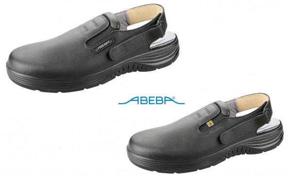 ABEBA X-Light 711135 7131135 ESD Berufsschuh Clog Pantolette Arbeitsclog Arbeitsschuh schwarz