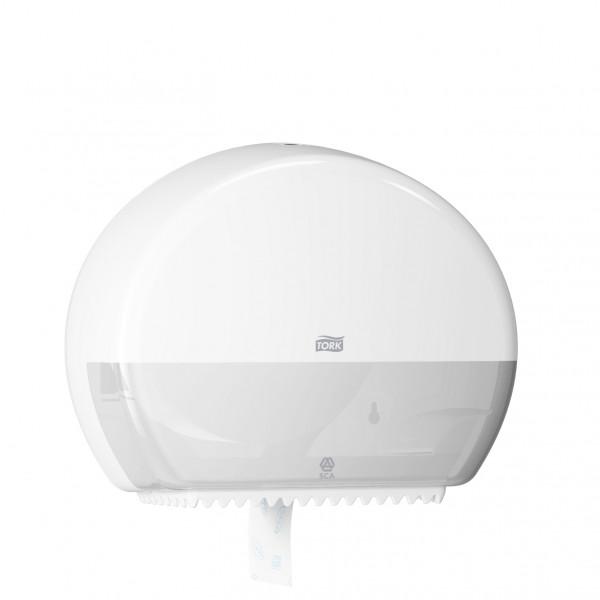Tork (T2) Toilettenpapierspender WC-Papier Spender Mini Jumborollenspender weiß - 555000