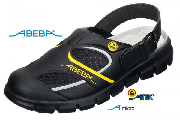 ABEBA Dynamic 37343 ESD Berufsschuh Clog schwarz/gelb