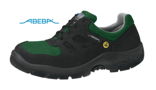 ABEBA Anatom 1122 Sicherheitsschuh S1 ESD Arbeitsschuh Stahlkappe schwarz