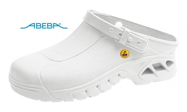 ABEBA Autoklavierbare Clog 9600 39600 ESD Clogs Berufsschuh Arbeitsschuh weiß