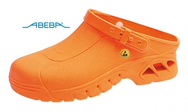 ABEBA Autoklavierbare Clog 9630 39630 ESD Clogs Berufsschuh Arbeitsschuh orange