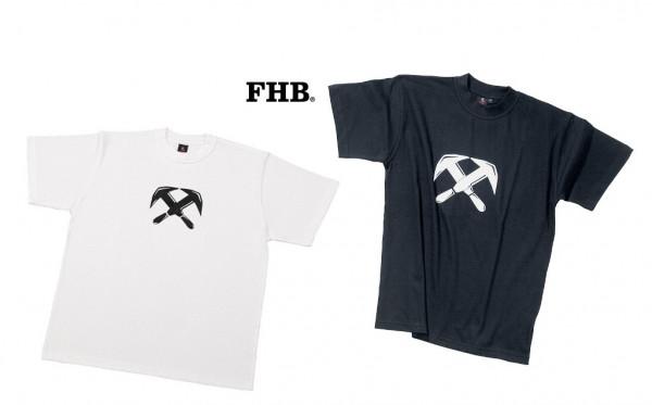 FHB Till T-Shirt Dachdecker Zunftemblem 90420 Größe S -FHB Till T-Shirt Dachdecker Zunftemblem 90420 Größe S - 3XL, in 2 Farben