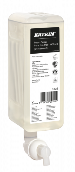 Katrin Handwaschschaum Pure Neutral 6x1000 ml - 3136