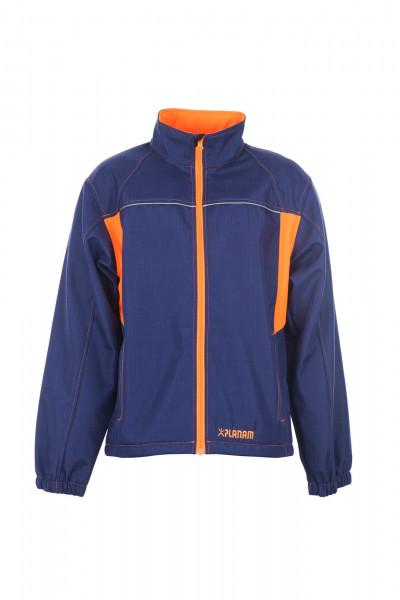 Planam Basalt Neon Softshelljacke Arbeitsjacke Marine-Orange 6291