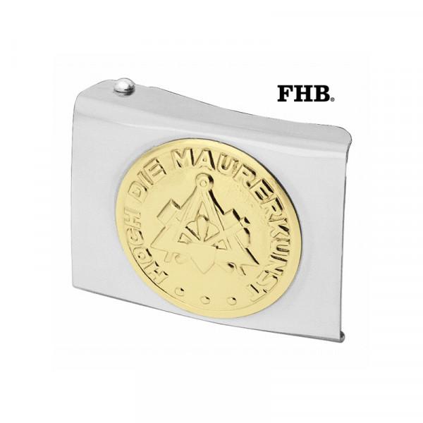 FHB Gregor Koppelschloss Arbeitsgürtel Gürtel Koppel -Maurer- 87001 Silber