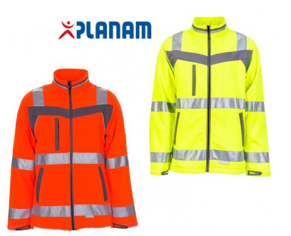 Planam Plaline Warnschutz Softshelljacke Arbeitsjacke Softshell Jacke Größe S - 8XL, in 2 Farben