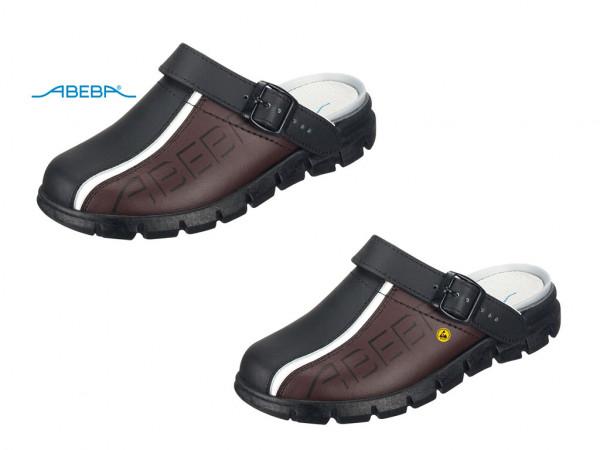 ABEBA Dynamic 7315 | 37315 ESD Berufsschuh Clog schwarz/braun
