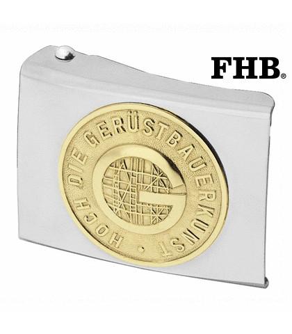 FHB Herold Koppelschloss Arbeitsgürtel Gürtel Koppel -Gerüstbauer- 87051 Silber