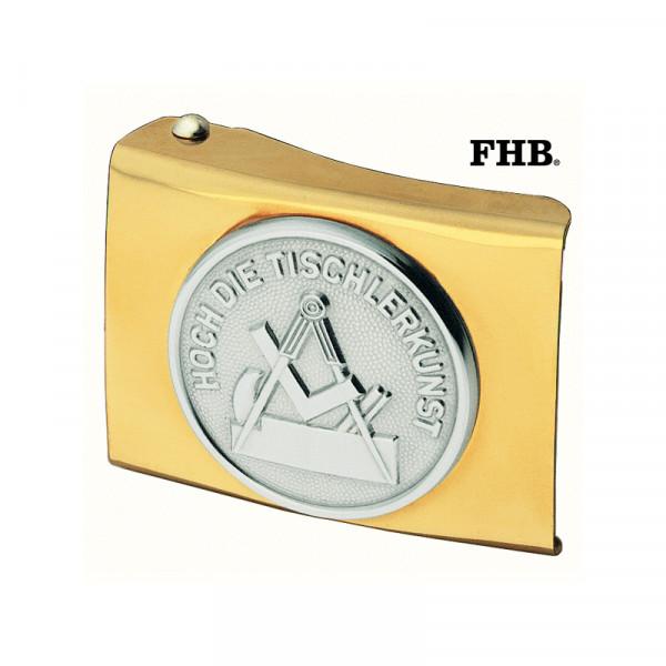 FHB Gerrit Koppelschloss Arbeitsgürtel Gürtel Koppel -Tischler- 87060 Gold