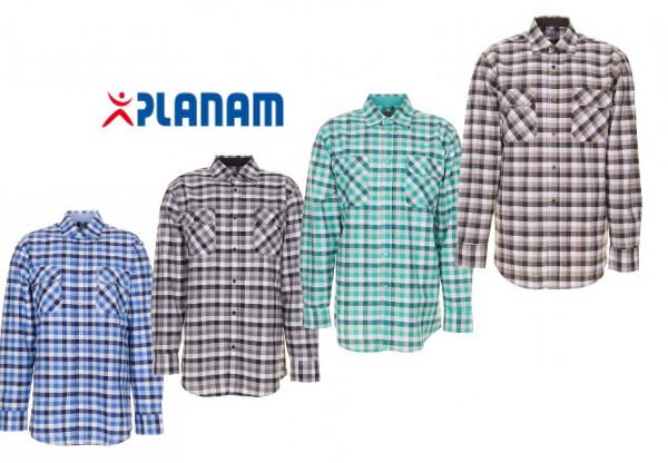 Planam Countryhemd 1/1 langarm Arbeitshemd Größe 37/38 - 49/50, in 4 Farben