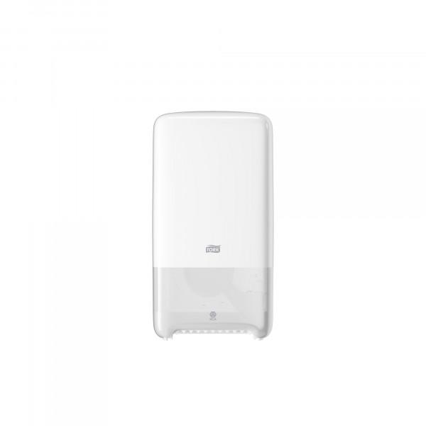Tork (T6) Toilettenpapier WC-Papier Spender Doppelrollenspender für Midi Rollen weiß - 557500 Rollen weiß - 557500