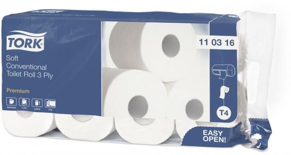 Tork Toilettenpapier/WC-Papier 3-lagig, hochweiß, 72 Rollen - 110316