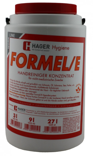Formel E Handwaschpaste Handreiniger Konzentrat 3 Liter