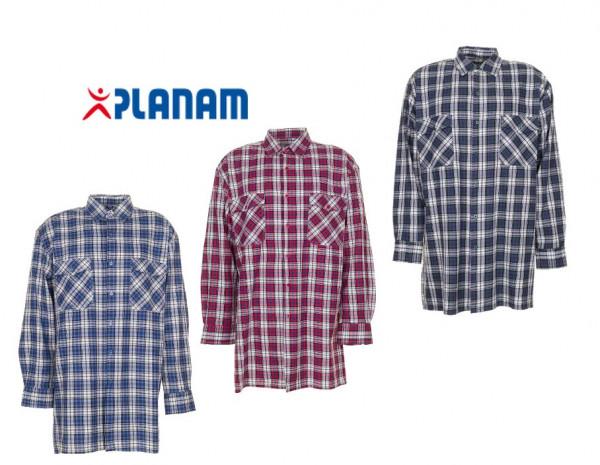 Planam Flanellhemd Arbeitshemd Größe 37/38 - 49/50, in 3 Farben