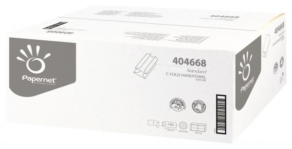 Papernet® - Handtuchpapier natur, C-Falz, 1-lagig, 24,5 x 33 cm 3.640 Blatt
