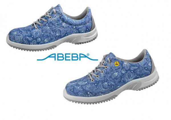 ABEBA Sicherheitsschuh S1 Halbschuh blau/gemustert UNI6 1724   31724 ESD