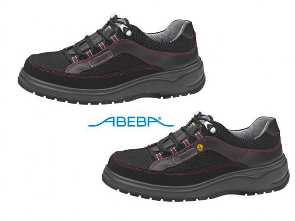 ABEBA Sicherheitsschuh S1 Halbschuh Stahlkappe Küchenschuh Arbeitsschuh schwarz Light 1056|31056 ESD