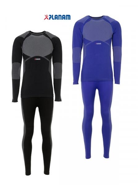 Planam Funktionswäsche Set Fit 250 Shirt + Hose lang 250g/m² Unterwäsche Winter Größe S - 3XL, in 2 Farben