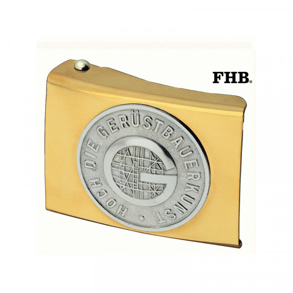 FHB Freddy Koppelschloss Arbeitsgürtel Gürtel Koppel -Gerüstbauer- 87050 Gold